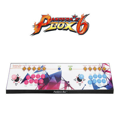 3A FHD Pandora's Box 6 Arcade Video Game Console with Unlimited Games(8 Buttons)