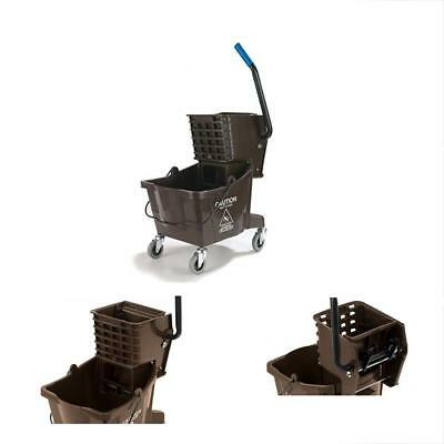 Buckets 3690869 Commercial Mop With Side Press Wringer, 26 Quart Capacity, Brown