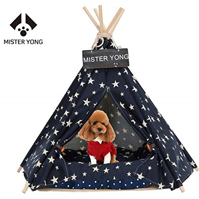 Yongs Pet Cat Dog Rabbit Teepee with Cushion,Portable Puppy Small Animals Bed
