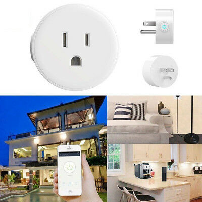 Wifi Smart Plug Remote Control Switch Works Google Home Alexa Android IOS Outlet