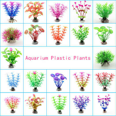 1pc Grass Aquarium Decoration Water Weeds Ornament Plastic Plant Fish Tank Decor