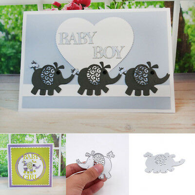 Cards Making Photo Album Cutting Dies Scrapbooking Elephant Embossing Stencil