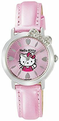 CITIZEN Q&Q Hello Kitty watch Pink Analog leather belt made in Japan