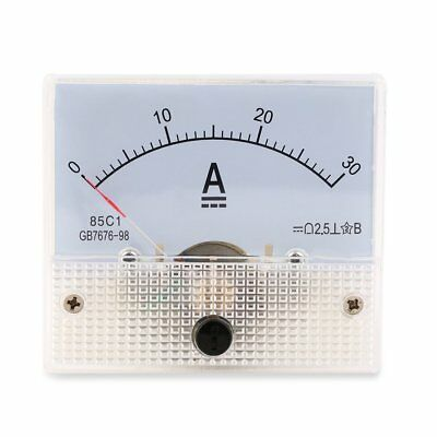 DC 30A Analog Ammeter Panel 0-30A Current Meter Analog Amperemeter Panel Q6~4