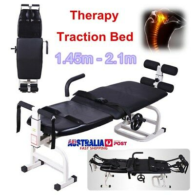 Portable Massage Table Beauty Massage Therapy Body Traction Stretching Bed 145cm