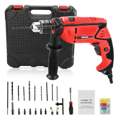 Hammer Drill , Powerful Variable Speed Electric Impact Drill with 16pc Bits Set