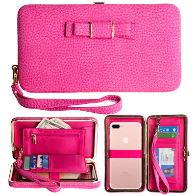 Womens Bowknot Wallet Long Purse Card Phone Holder Clutch Large Capacity Pocket2
