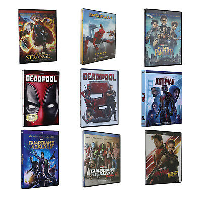 Lot of 9 Marvel's DVDs Movies Ant-man and the Wasp Dr. Strange DeadPool Bundle
