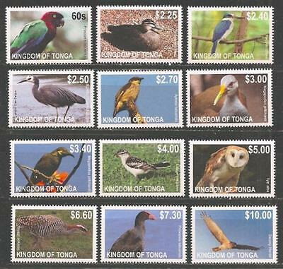 Tonga Dauerserie Vögel (weißer Rand) Eule Papagei u.a. Birds Definitives 2012 **