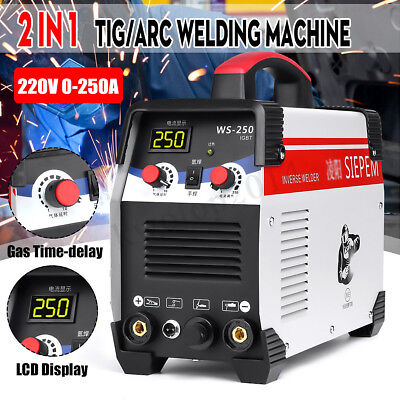 220V 7000W 2In1 TIG/ARC Welding Machine 250A MMA IGBT Inverter WS-250 Welder Kit