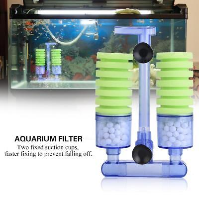 Biochemical Sponge Foam Filter for Aquarium Fish Tank Equipment Double Head