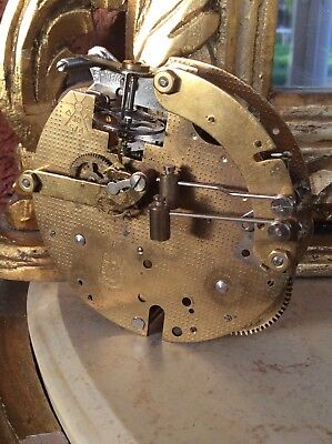 A Hermle mechanical clock movement striking twin hammer spares or repairs