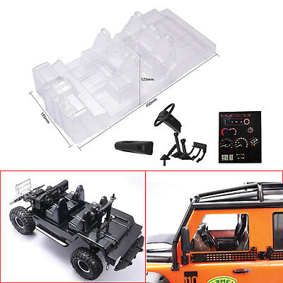 Car Interior Decoration Transparent Body Shell For Traxxas TRX4 Defender D110 RC