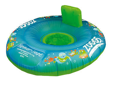 Zoggy Swim Safe Trainer Seat w/ Pillow Back&Stable Secure Sit - 1-2 Yrs 11-15kg