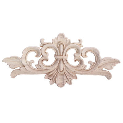 Fashion Carving Wood Decoration Wooden Applique Furniture Decal Woodcarving