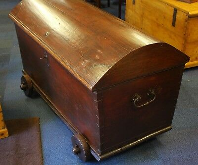 Charming Oak Domed Top Chest Trunk
