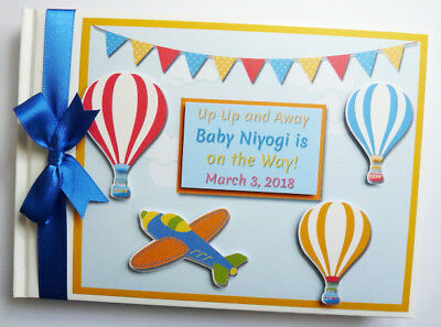 Up Up And Away Personalised Birthday Guest Book - Any Design