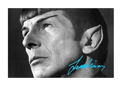 Leonard Nimoy (3) Spock Star Trek A4 signed mounted poster. Choice of frame.