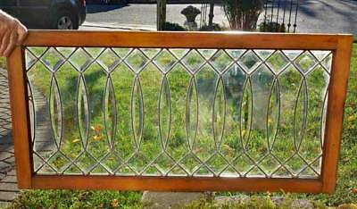 Antique BEVELED (LEADED, STAINED ) GLASS WINDOW - RESTORED