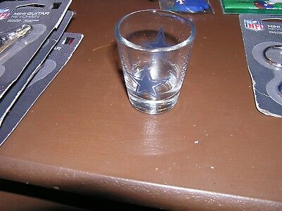 Brand New Dallas Cowboys Team Nfl Glass Shot Glass