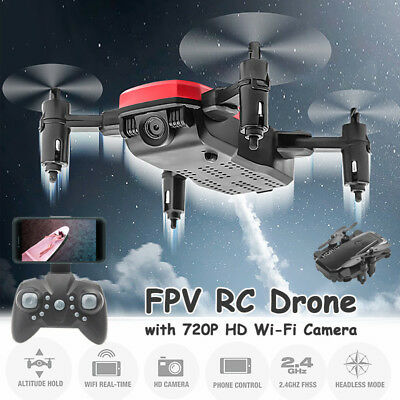 Foldable Quadcopter RC Drone with WiFi FPV HD Camera Live Video with Camera APP