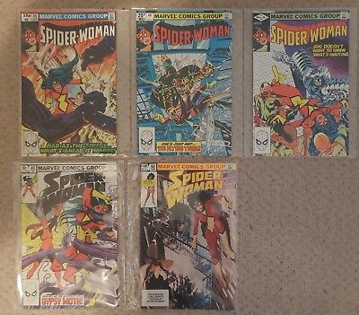 1980/83 Marvel 'The Spider-Woman' comics