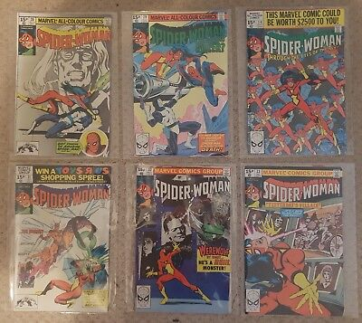 1979/80 Marvel 'The Spider-Woman' comics