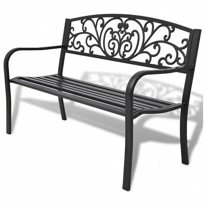 vidaXL Garden Bench Black Cast Iron