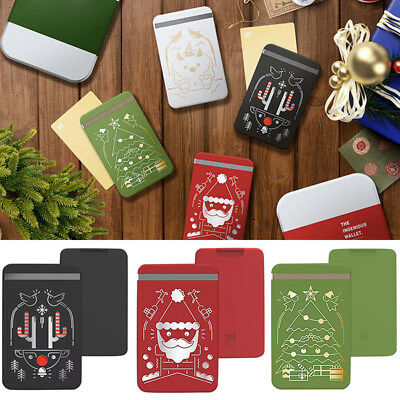 Christmas Zenlet Credit Card Holder Anti-Theft RFID Wallet Push-pull Style Xmas
