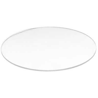 5X(Transparent 3mm thick Mirror Acrylic round Disc Diámetro:100mm R9L4) MO