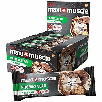 MaxiMuscle Protein Bars, Promax Lean, Cookie & Cream 12 x 55g