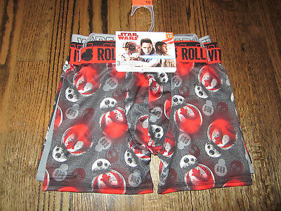 NWT Boys 3 Pack Athletic Boxer Briefs Size 10 Disney Star Wars