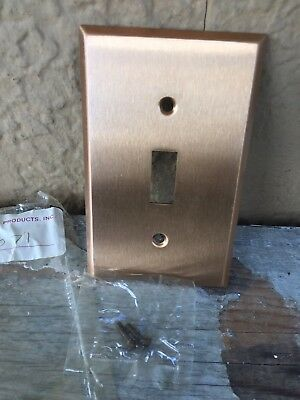 Vintage Single Toggle Light Switch Cover Plate Brass