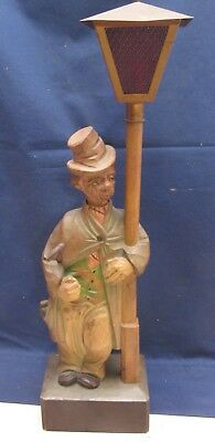 Vtg Wood Carved Music Box Whistling Automaton HOBO Karl Griesbaum EXCELLENT COND