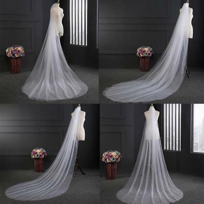 Comb With Bridal Wedding Cathedral 300CM Veil Vail White/Ivory Long