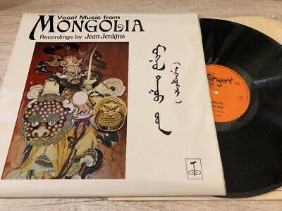 Vocal Music From Mongolia Vinyl LP UK 1977 Tangent Records TGS 126