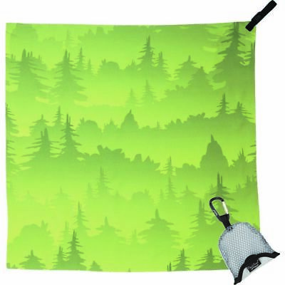Packtowl - Nano Handtuch green trees Outdoor Reise Camping