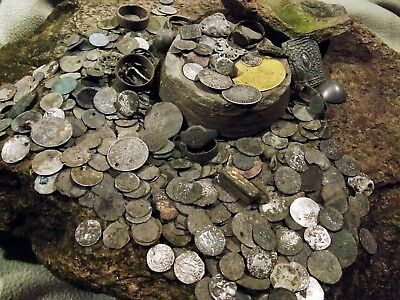 400 Medieval coins and artefacts BIG HOARD