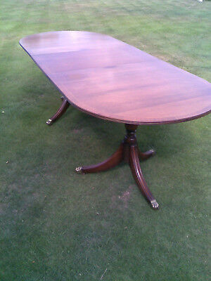 Antique Mahogany Twin Pedestal Dining Table