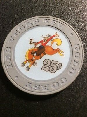 Gold Coast 25 Cent Casino Chip- Obsolete- Uncirculated
