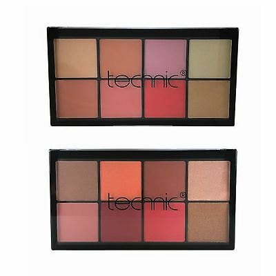 Technic Blusher & Highlighter Palette Pink Rose Peach Champagne Gold Bronze