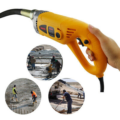 Hand Held Electric Concrete Vibrator - w/ 38mm Vibrating Poker & 2m Hose -1300W