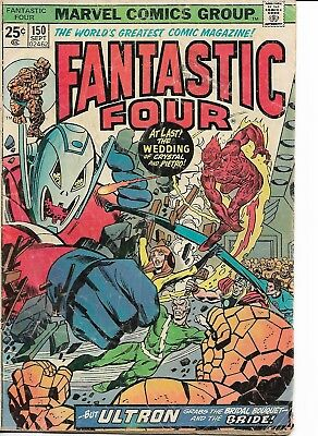 "vintage *marvel comic group* (fahtastic four) #150 SEPT. >25 CENT ""old""  comic"