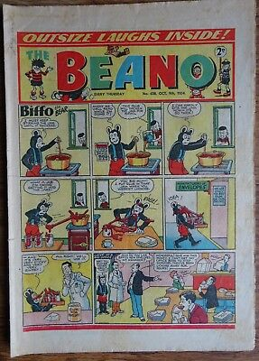 # 638 BEANO COMIC No. 638. OCTOBER 9th 1954. EARLY ISSUE.