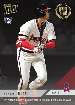 2018 Topps NOW MOY-4 Shohei Ohtani Los Angeles Angels RC