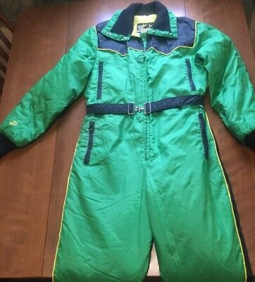 Vintage John Deere Green Work Snowmobile Snow Suit Complete Large Insulated