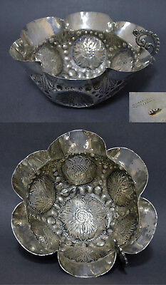 Fine Marked 18Th Century Portuguese Colonial Solid Silver Wine Taster Tastevin