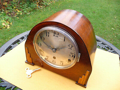 Mantle clock, art deco.   German  1930s?  Westminster quarter chiming  with key