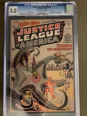 Brave and the Bold (1st Series DC) #28 1960 CGC 3.0 1st Justice League