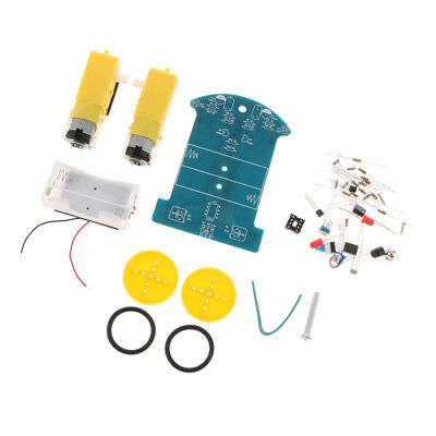 2WD Smart Robot Car Chassis Kit DIY Soldering Project For Tracking Following